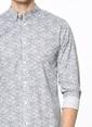 Jack & Jones Desenli Uzun Kollu Gömlek Gri